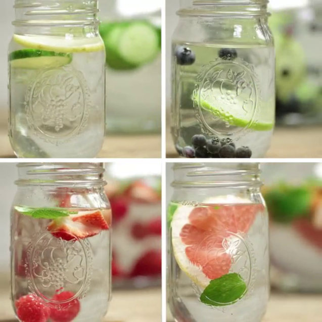 Detox water, 4 options