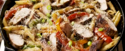 Penne with Chicken and Bell Pepper