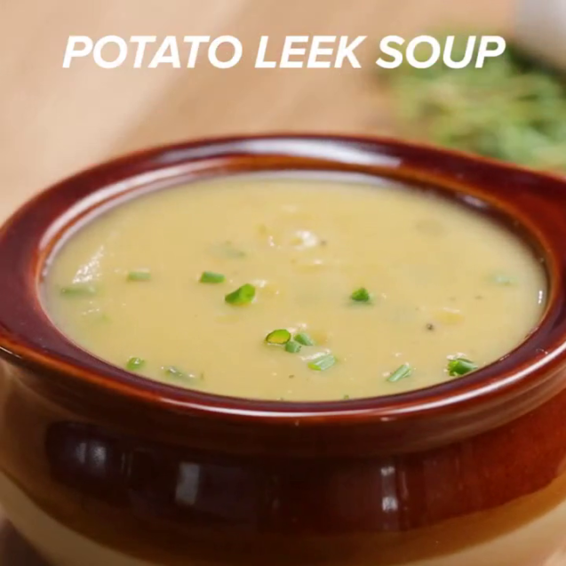 Potato soup with leek